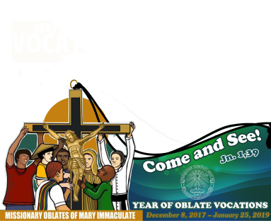 Oblate vocation FB frame English